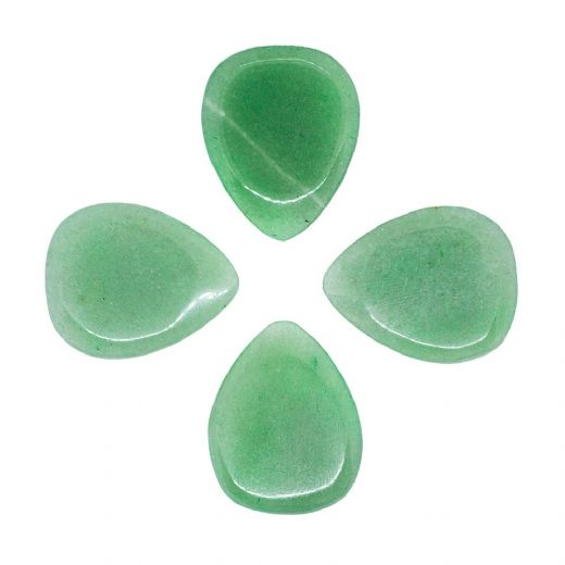 Shimmy Tones Green Aventurine 4 Guitar Picks